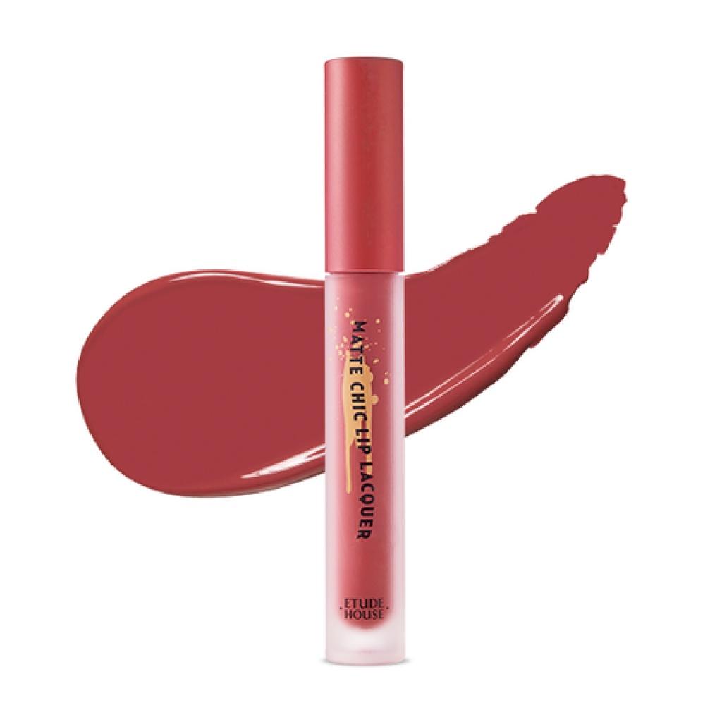 Блеск для губ Etude House Matte Chic Lip Laquer красный