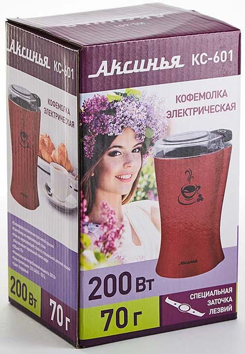 Кофемолка Аксинья КС-601, бордовый Аксинья
