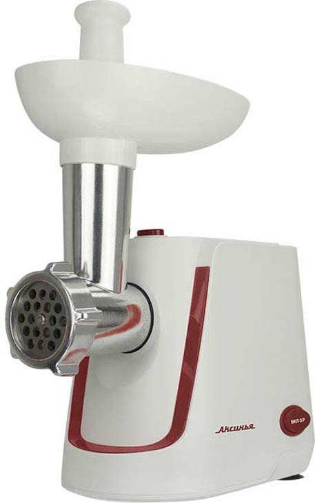 Мясорубка электрическая Аксинья КС-2000, белый, красный