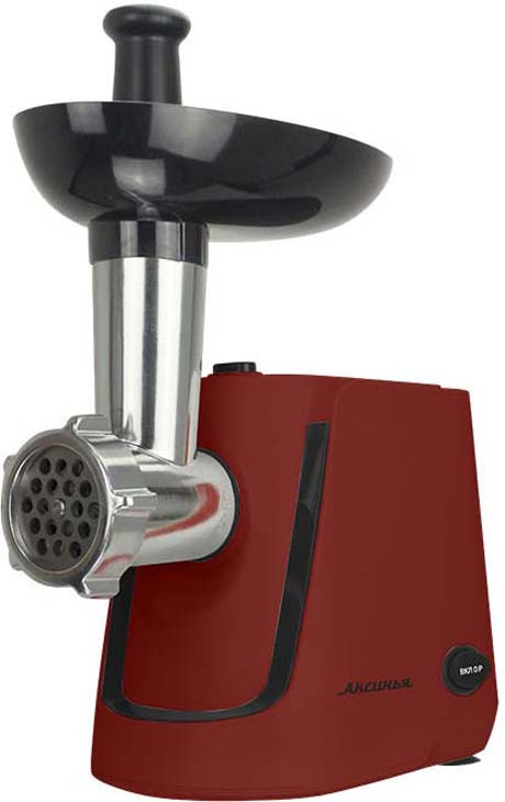 Мясорубка электрическая Аксинья КС-2000, красный, черный0R-00004189Электромясорубка предназначена для измельчения мяса и других видов продуктов, также используется для изготовления колбасок, лапши, спагетти, печенья, сока из мягких фруктов и овощейПодходит для обработки любого вида мясаПрочный металлический шнек увеличивает надежность и долговечность прибораНож из высококачественной нержавеющей сталиДве решетки для измельчения с отверстиями различного диаметраДве насадки КУББЕНасадка для набивки колбасУдобный толкательПротивоскользящие прорезиненные ножкиФункция РЕВЕРС обеспечивает простоту очистки шнека при забивании продуктамиАвтоматическое отключение при забивании горловины продуктамиСистема защиты двигателя от перегреваЦвет: красный с черным