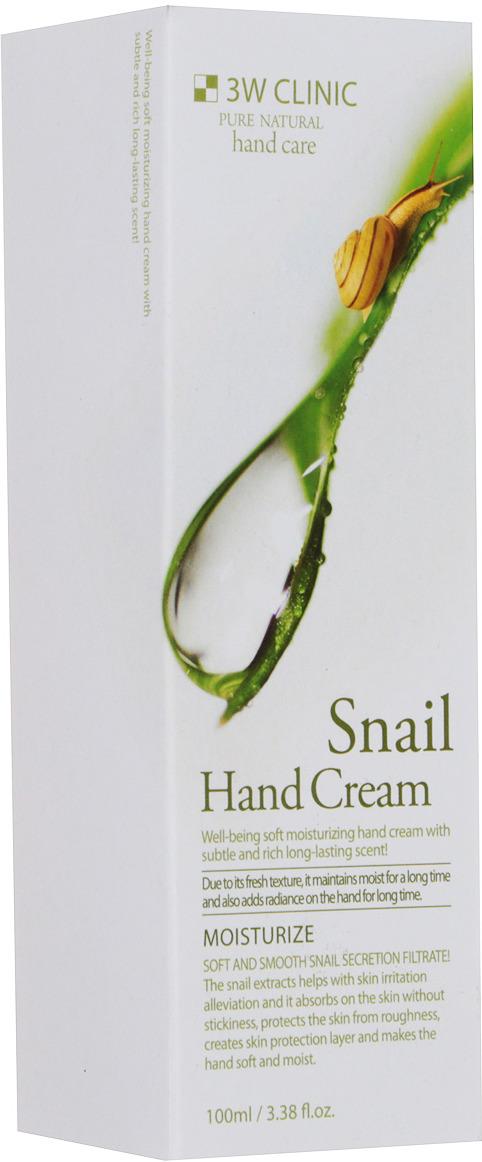 3W Clinic Крем для рук Snail (Улитка), 100 мл