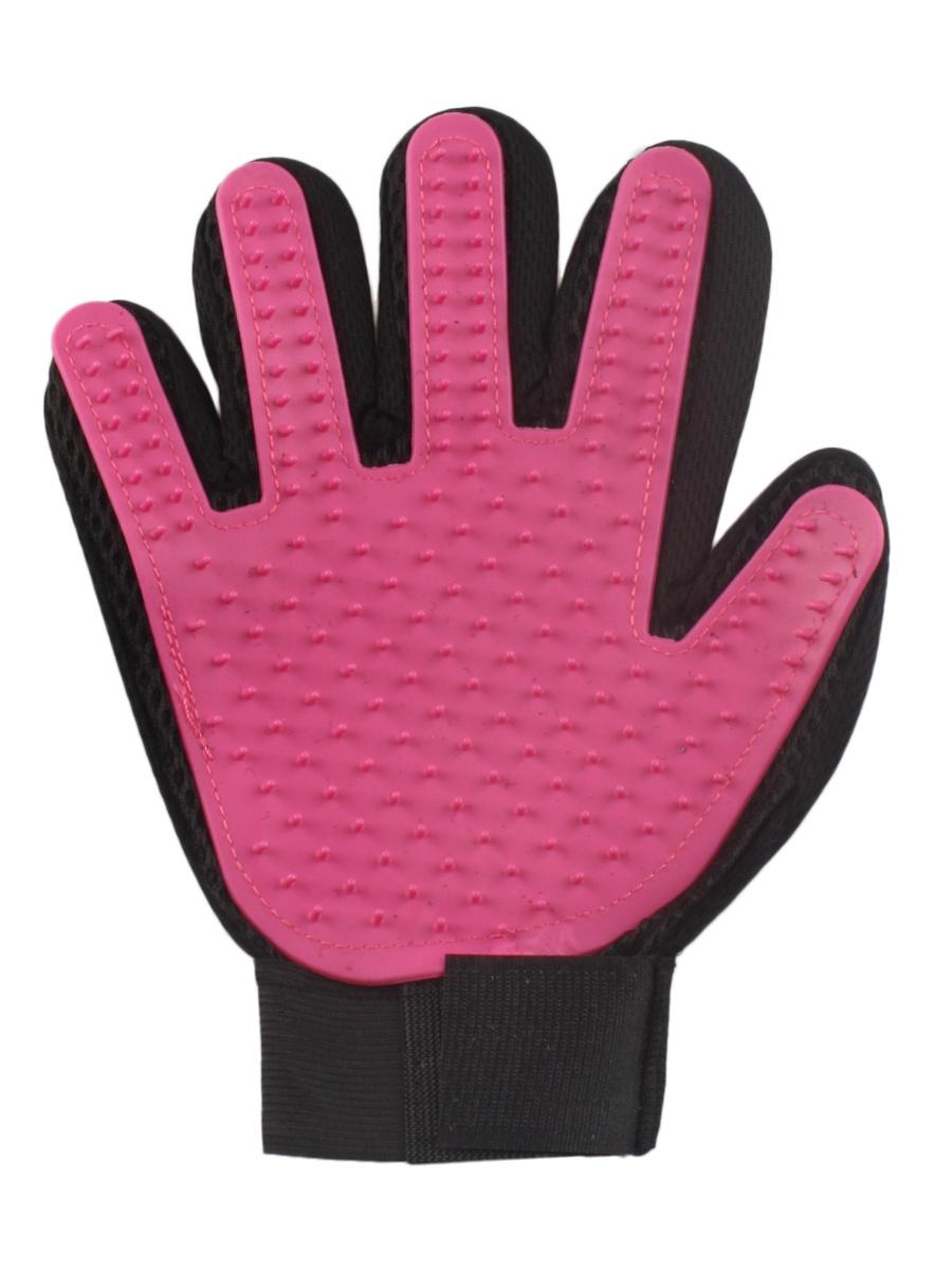 Рукавичка для чистки шерсти L.A.G. 3245860, розовый, черный