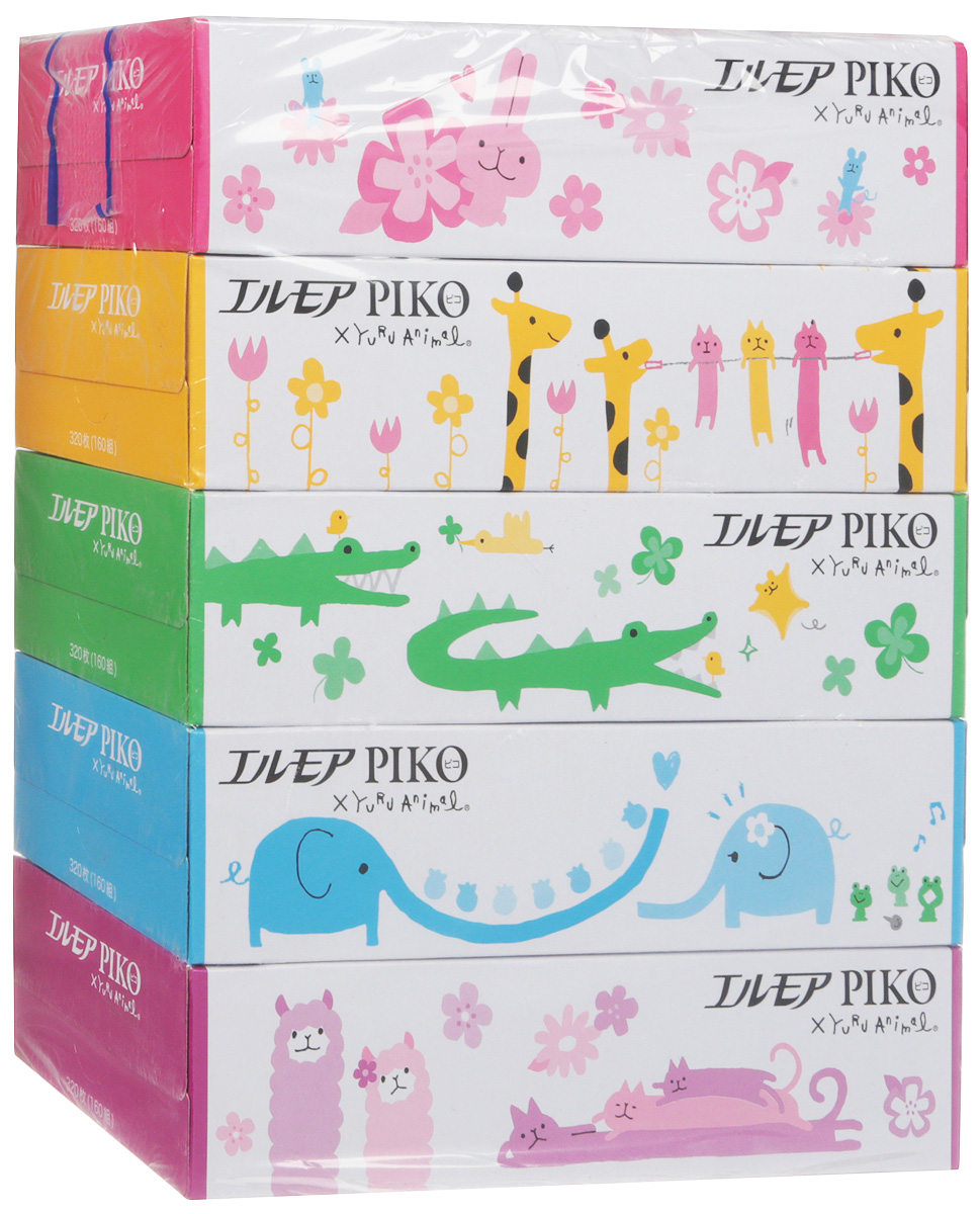 Салфетки бумажные Kami Shodji Ellemoi Piko, 5 х 160 шт lupine piko 7