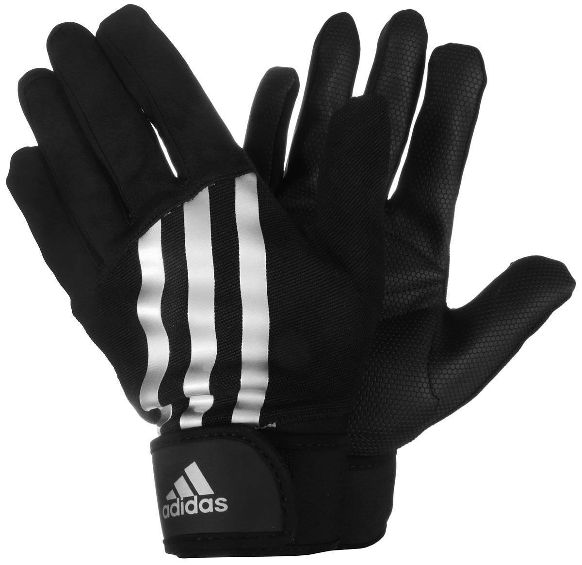 Перчатки тренировочные Adidas, утепленные, цвет: черный, размер L