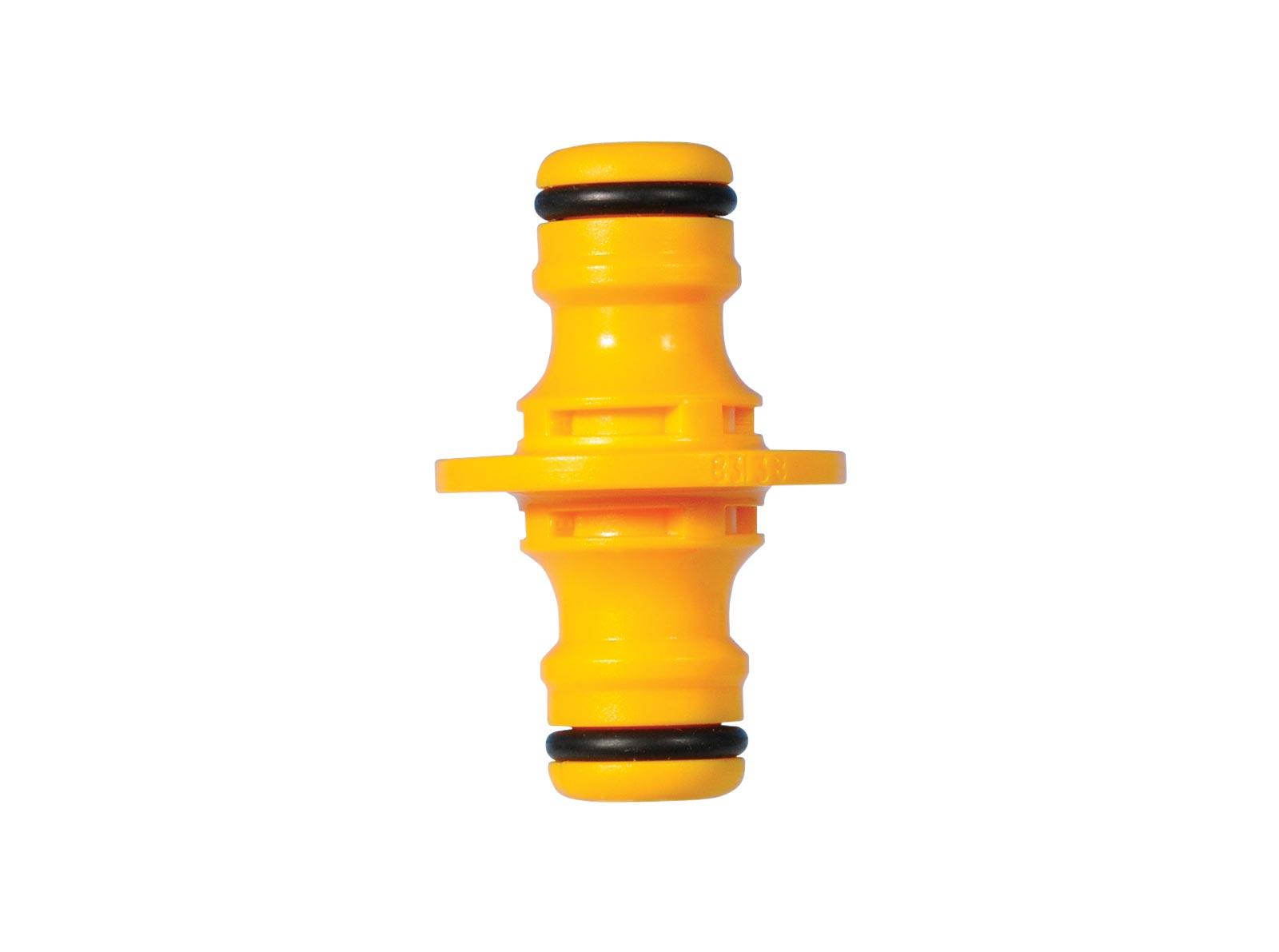 Коннектор шланга Hozelock 2291 двойной, желтый