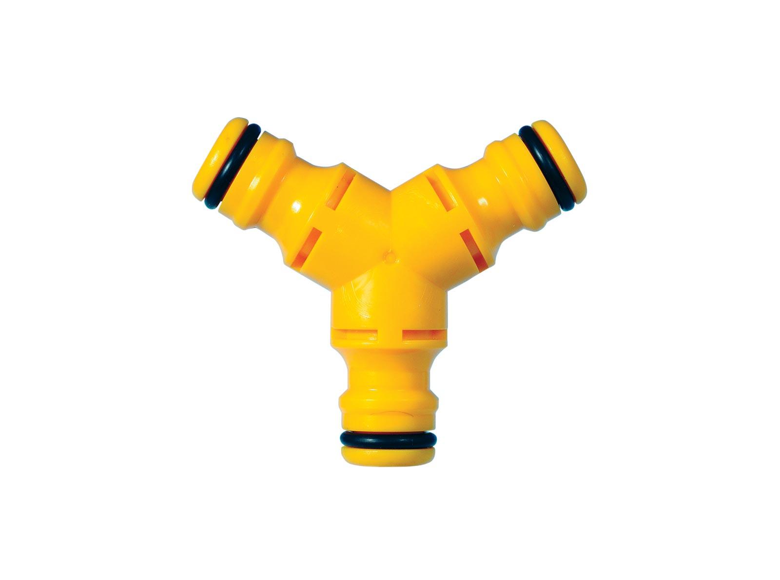 Коннектор шланга Hozelock 2293 Y-образный тройной, желтый
