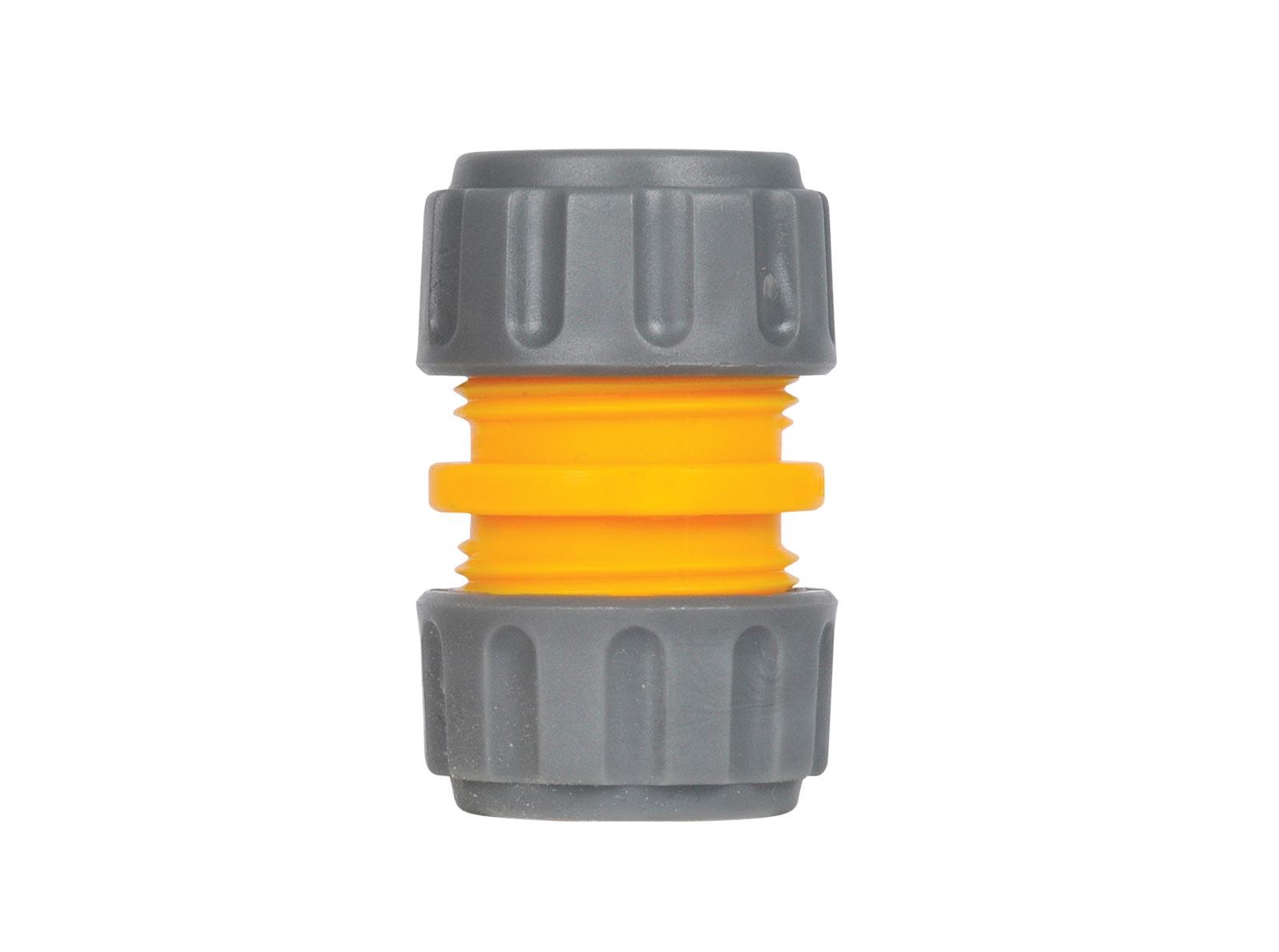 """Коннектор шланга Hozelock 2100 для ремонта шланга, 1/2"""", желтый, серый"""