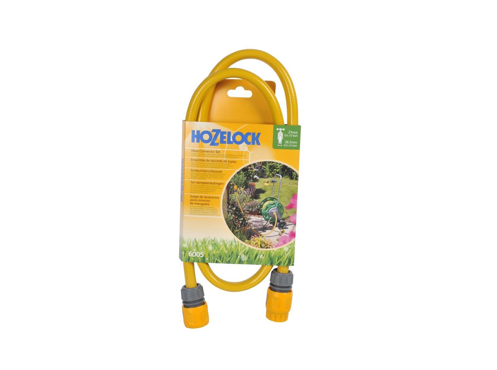 Фото - Коннектор шланга Hozelock 6005 набор соединителей шлангов для подключения катушки/тележки, серый, желтый коннектор двойной для крана hozelock 22560000