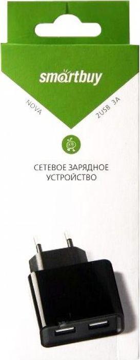 Сетевое зарядное устройство SmartBuy Nova SBP-6000, 3А, черный автомобильное зарядное устройство smart buy turbo pd usb usb c 3 2 4 a черный sbp 2033c
