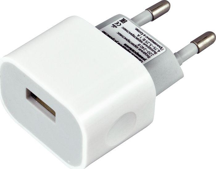 Сетевое зарядное устройство Smartbuy Nitro SBP-1003, 1А, белый сетевое зарядное устройство smartbuy flash sbp 2023c usb type c рower delivery 30 вт 2 4а белый