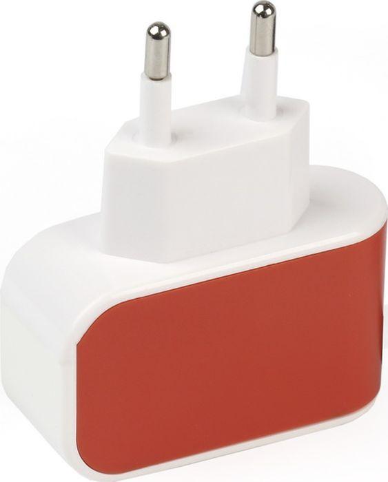 цена на Сетевое зарядное устройство SmartBuy Color Charge SBP-8050, 2А, оранжевый