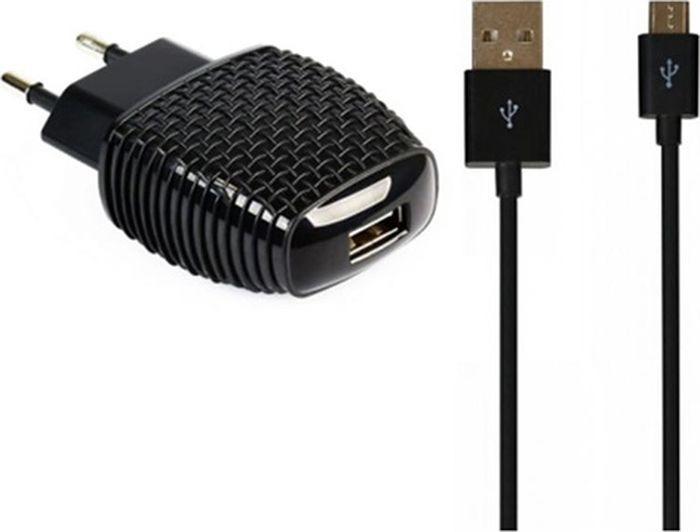 цена на Сетевое зарядное устройство Smartbuy Nova Mkii SBP-1004MC + кабель MicroUSB, 2.1 А, черный