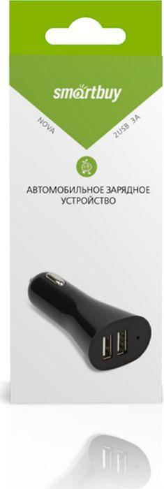 Автомобильно зарядное устройство SmartBuy Nova SBP-7000, 3А, черный автомобильно зарядное устройство smartbuy nova mkii sbp 1504 2 1a белый