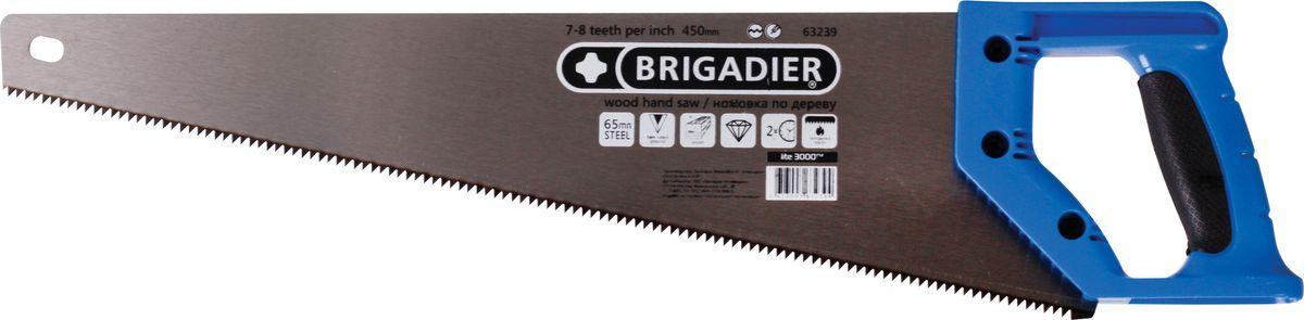Ножовка по дереву Brigadier Extrema, 7-8TPI, 450 мм ножовка по дереву brigadier lite