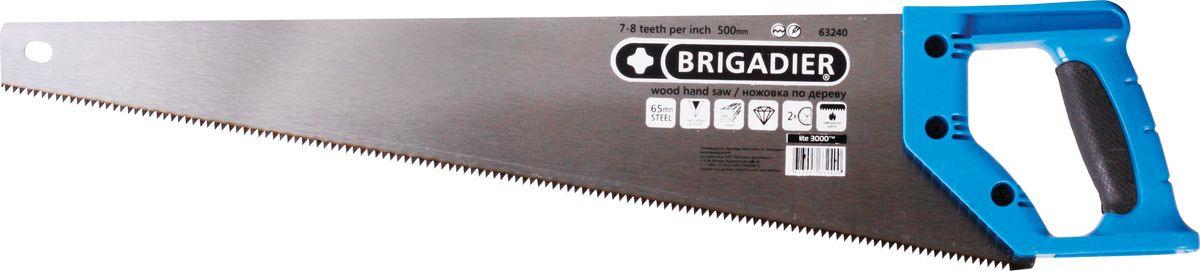 Ножовка по дереву Brigadier, 7-8TPI, 500 мм ножовка по дереву brigadier lite