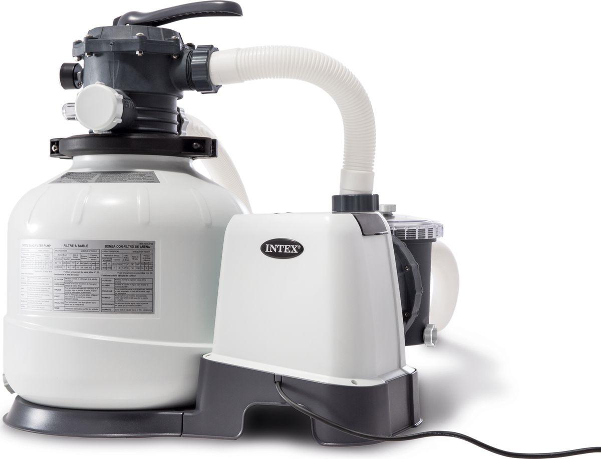 Фильтр-насос для бассейна Intex Ультра, песочный, с26648, белый, 975 х 788 см, 220V фильтр насос для бассейна intex ультра песочный с26646 белый 732 х 366 см 220v
