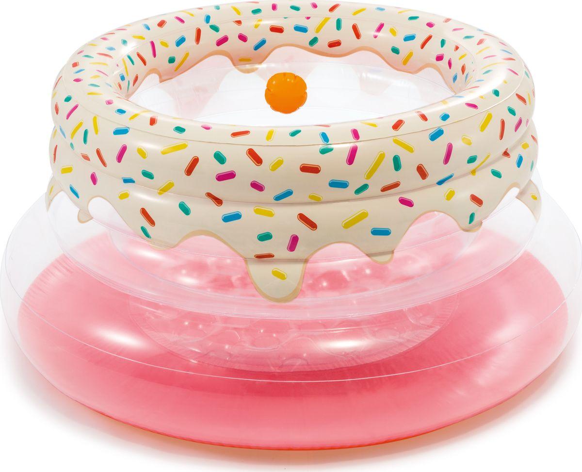 Игровой центр для бассейна Intex Мой первый гимнастический зал, с48476, розовый, 127 х 61 см тент от солнца для бассейна intex прямоугольный с сумкой с29030 голубой 960 х 466 см