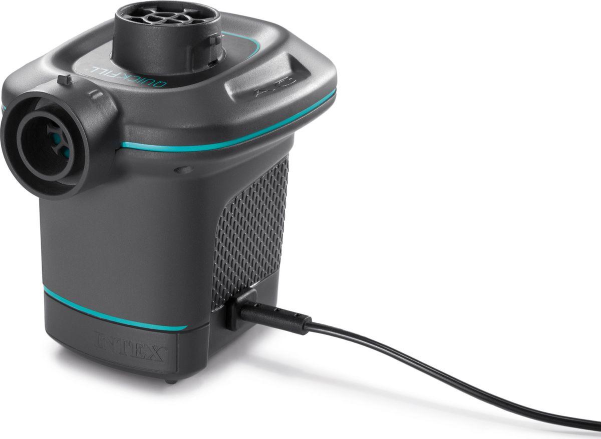 Насос электрический для бассейна Intex, с 3 насадками, с66640, черный, 220V цена