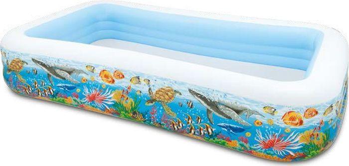 цены на Бассейн Intex Фэмили с рыбками, надувной, с58485, мультиколор, 305 х 183 х 56 см  в интернет-магазинах