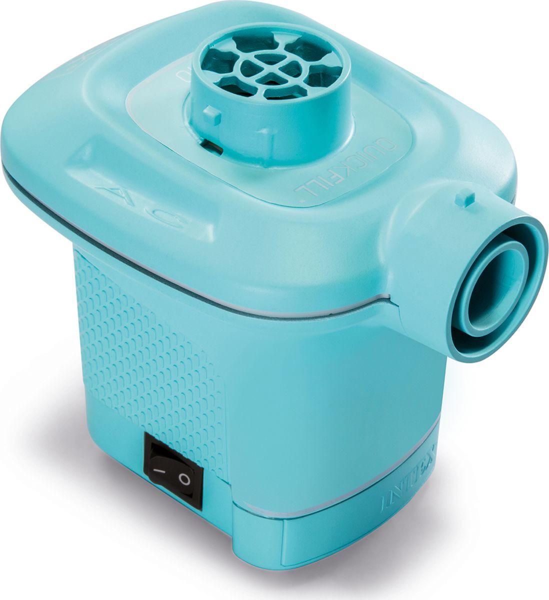 Насос электрический для бассейна Intex, с 3 насадками, с58640, голубой, 220V насос юнипамп эко 3