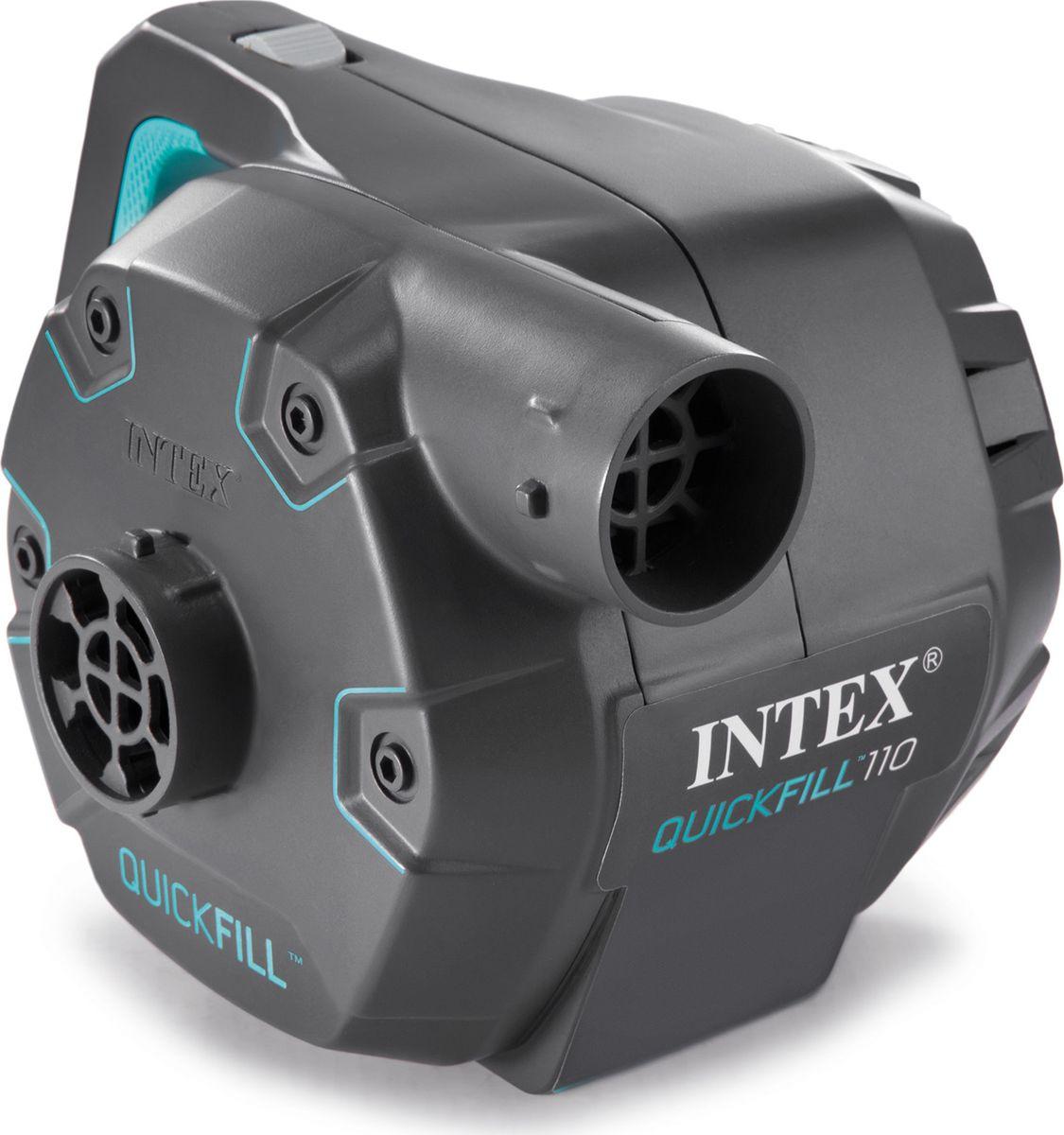 Насос электрический для бассейна Intex, с 3 насадками, с66644, черный, 220V цена