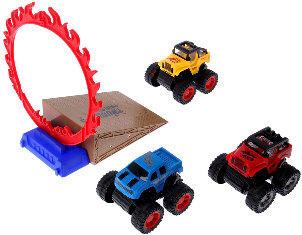 Игровой набор игрушек Триал, с 3 джипами и рампой, 23814792381479Методы воспитания и образования будут меняться бесконечно, но во все времена постоянным остается одно ? это радость ребенка от подаренной ему игрушки. Как известно, счастливая улыбка ребенка ? самая большая награда для родителей. Сделанный специально для детишек Игровой набор станет отличным подарком вашему малышу. Купить оптом его вы можете прямо сейчас по самой выгодной цене.