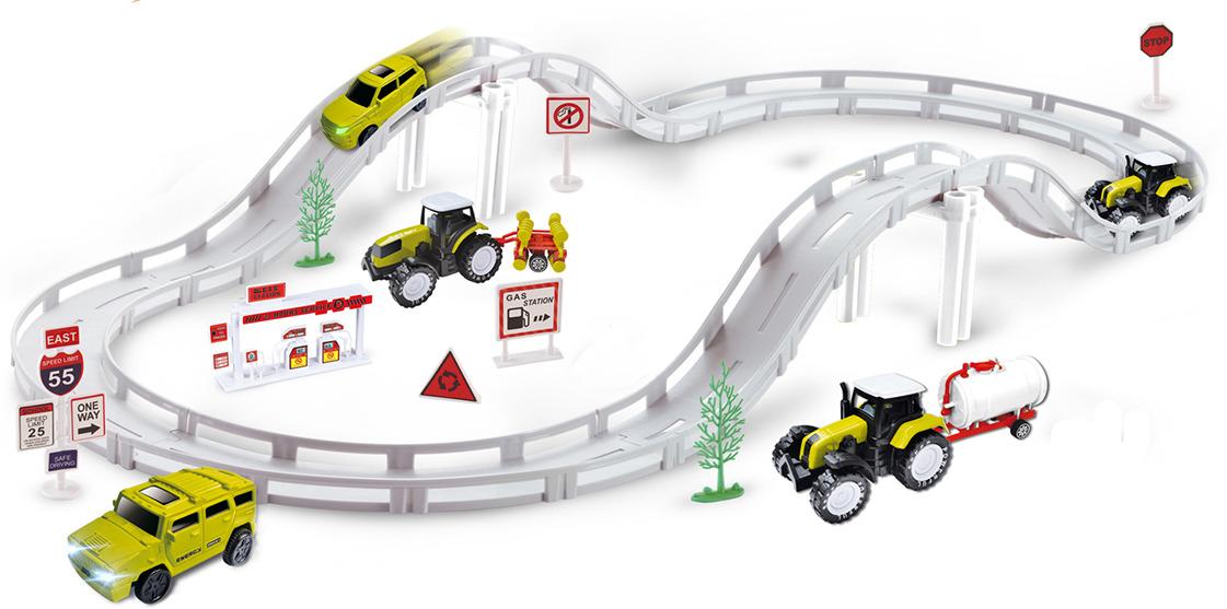 Игрушечный трек Woow Toys Экстремальные гонки, с машинкой, 24577852457785Выполняйте немыслимые трюки с данным автотреком! С этим набором даже самые смелые идеи юного каскадера найдут свое воплощение.Соберите трассу.