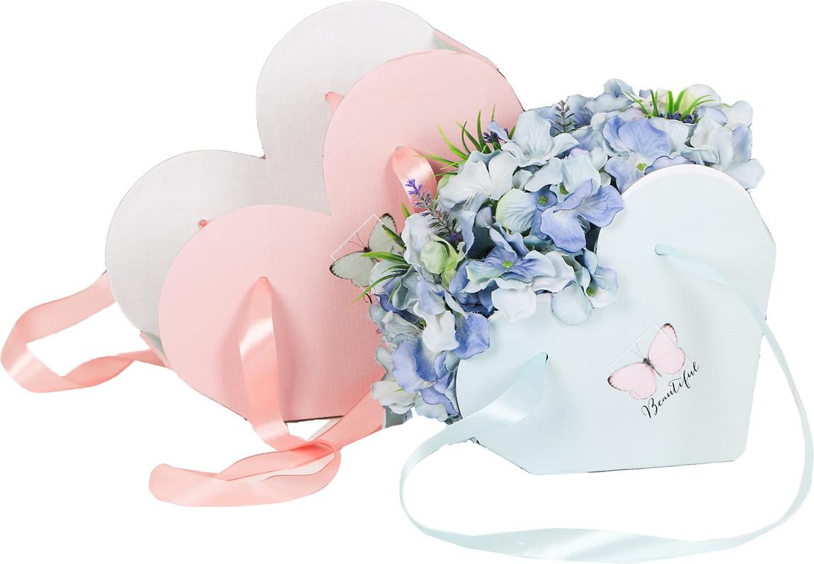 Набор подарочных коробок Дарите Счастье Сердце с лентами. Beautiful, складные, 3648774
