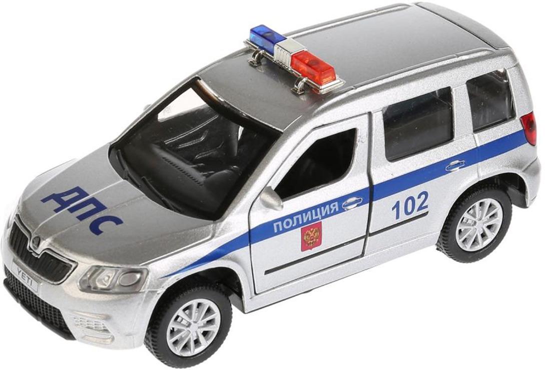 Машинка ТехноПарк Scoda Yeti Полиция, инерционная, 4016308, 12 см технопарк машина урал будка милиция полиция