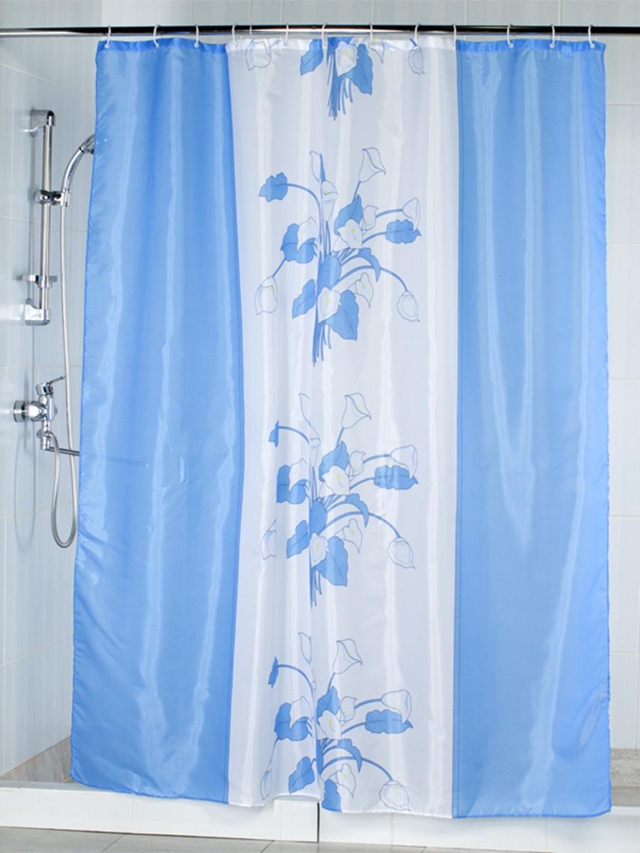 <b>Штора для ванной Aquarius</b> 48664, голубой — купить в интернет ...