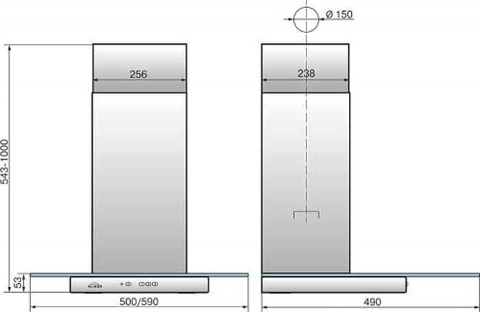 Встраиваемая вытяжка Elikor Кристалл 50Н-430-К3Д, серебристый Elikor