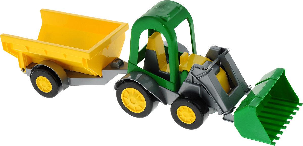 Машинка Тигрес Трактор-багги, с ковшом и прицепом, 38715993871599Яркий трактор с первых секунд привлечет внимание малыша, поможет развить воображение, координацию, цветовое восприятие, тактильные ощущения и мелкую моторику рук