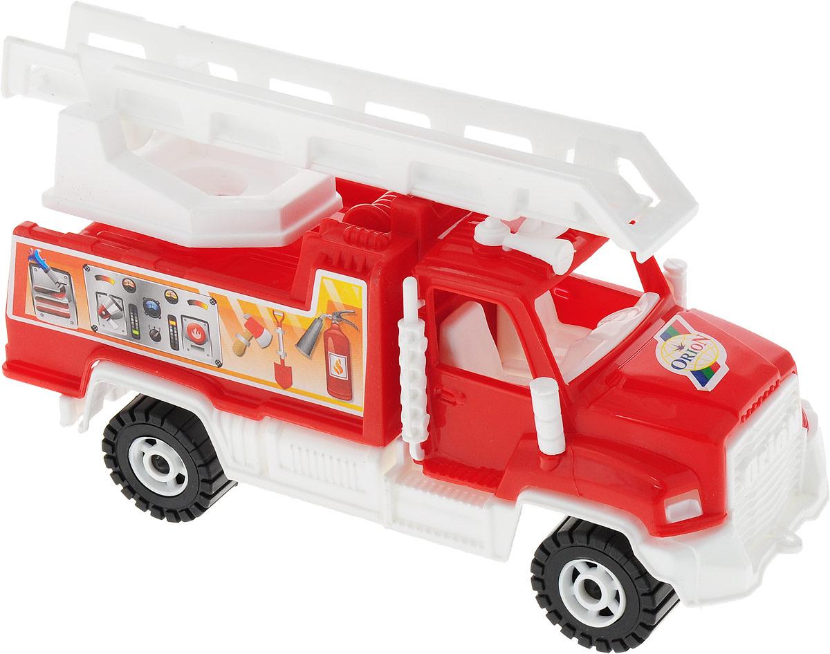 Пожарная машина Orion Toys Камакс, 872834872834Машина поможет малышу развить воображение, координацию, цветовое восприятие, тактильные ощущения и мелкую моторику рук.
