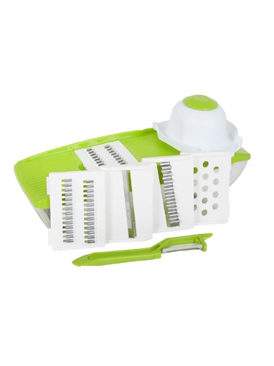 Фрукто-овощерезка Tip-Top 4605170009394, светло-зеленый, зеленый фрукто овощерезка salad chef цвет зеленый белый