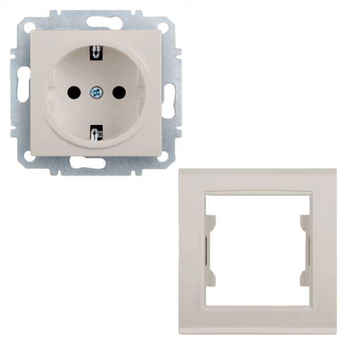 Розетка Zakru со шторками и заземлением (Бежевый) + РАМКА В ПОДАРОК!602042Монтаж: ВстраиваемыйТип розетки: CEE 7/4(с заземляющим контактом)Номинальное напряжение: 230В/50Гц Номинальный ток: 16АСечение провода: до 4мм2 Тип клемм: безвинтовой Степень защиты: IP20 Материал корпуса: PA6+GF30% огнеупорный Маркировка: CE, EACСоответствует: МЭК/IEK 60884-1:2013