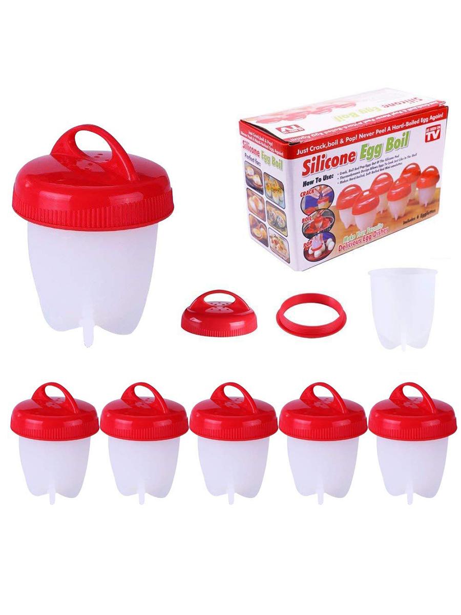 Яйцеварка TipTop 4605170009462, красный, белый TipTop