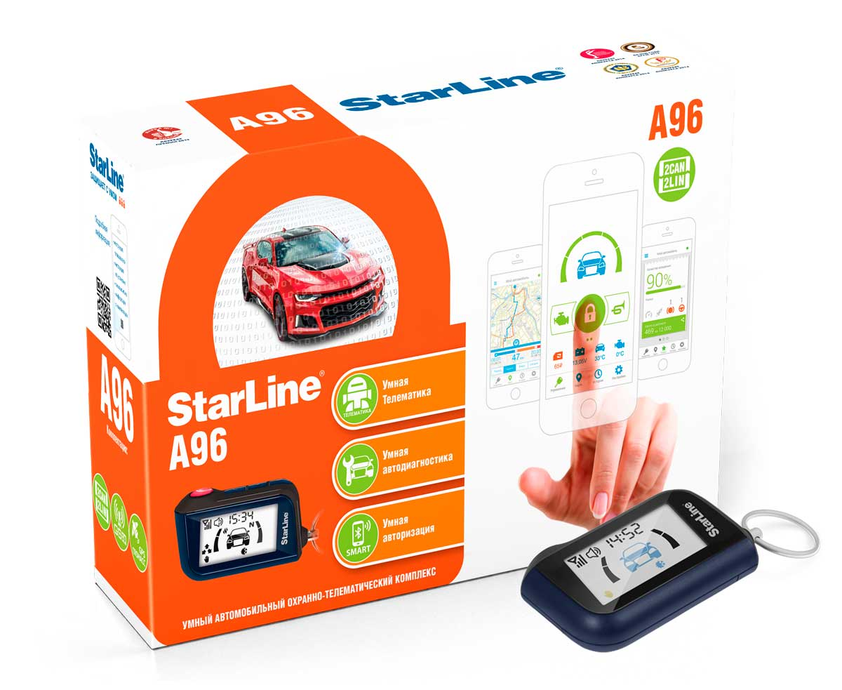 Противоугонное устройство Starline A96 2CAN+2LIN GSM автосигнализация starline a96 2can 2lin gsm gps