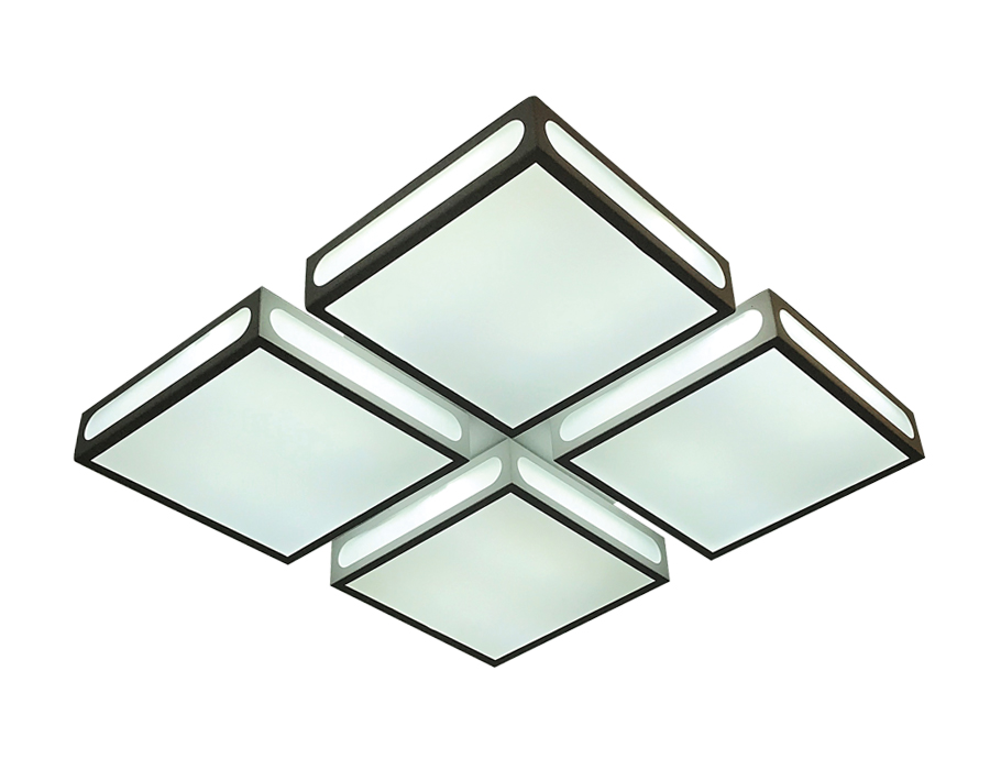 Управляемый потолочный светильник Ambrella FS1888 WH/SD 144W 4200K D520*520