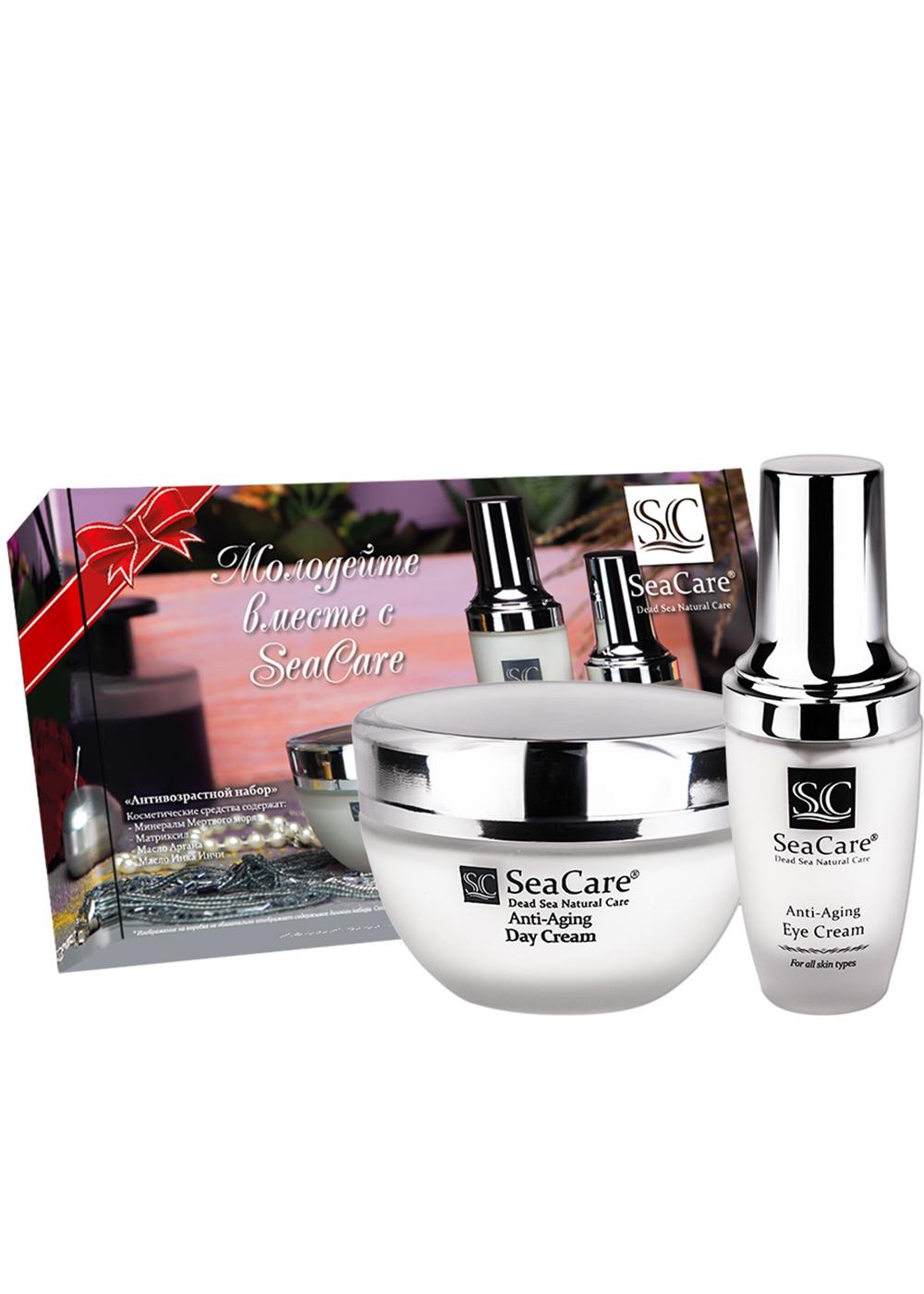 Набор косметики для ухода за кожей SeaCare Подарочный антивозрастной набор №7, Дневной крем 50мл, Крем для глаз 30 мл