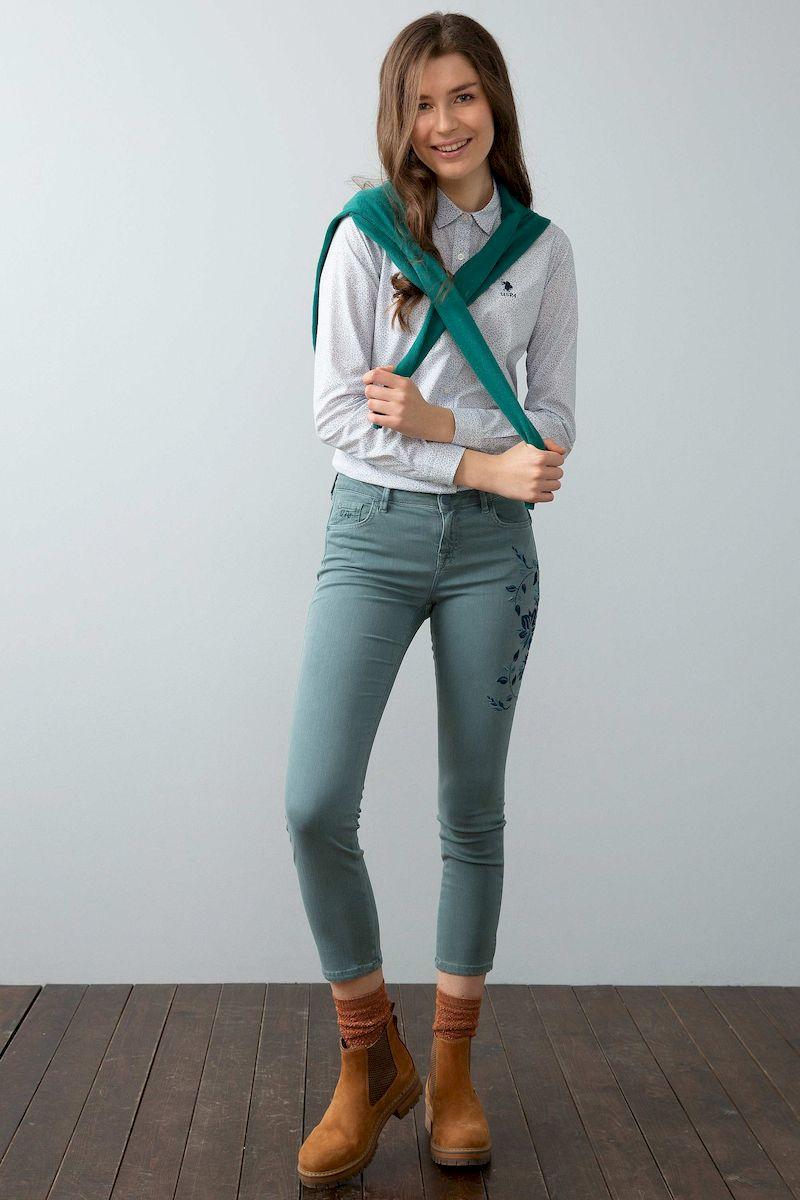 Рубашка женская U.S. Polo Assn., цвет: темно-синий. G082GL0040DARMELL_VR019. Размер 34 (42)G082GL0040DARMELL_VR019