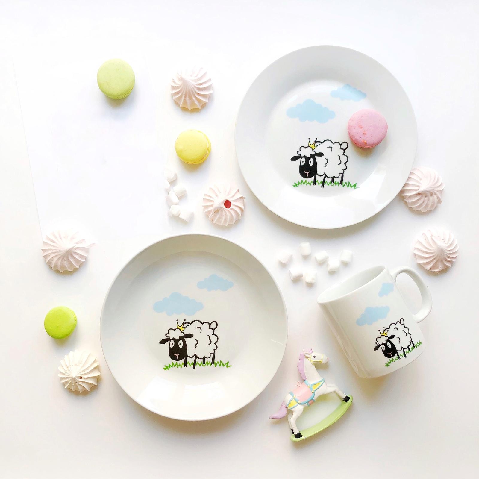 Набор посуды Долли (3 в 1: кружка+тарелка+глубокая тарелка Sans Brides )