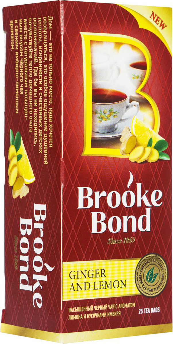 Brooke Bond Черный чай Имбирь и лимон 25 шт helen brooke survive