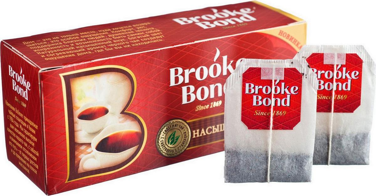 Brooke Bond Насыщенный черный чай в пакетиках, 25 шт helen brooke survive