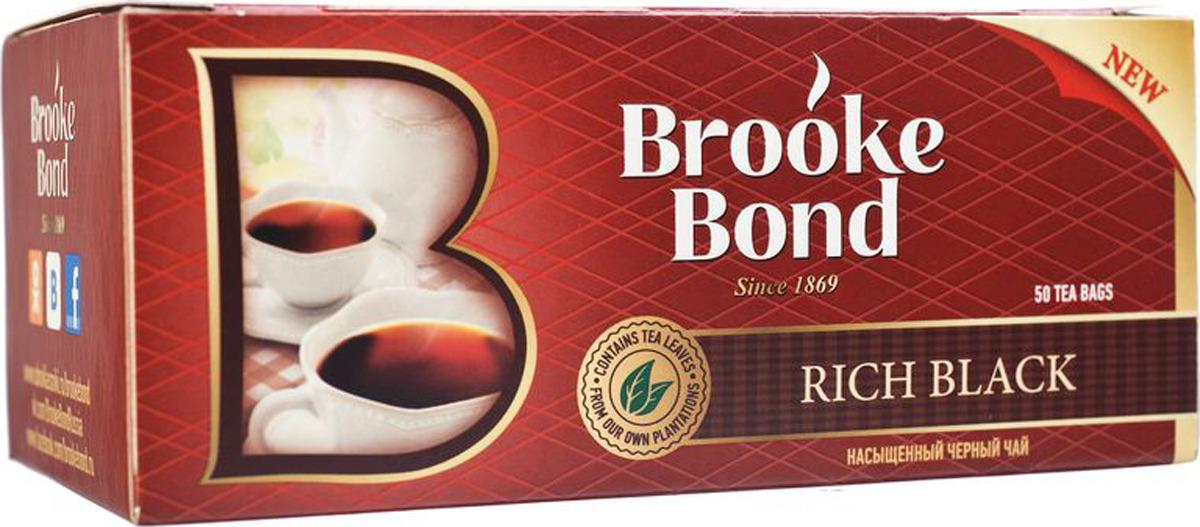 Brooke Bond Насыщенный черный чай в пакетиках, 50 шт цена