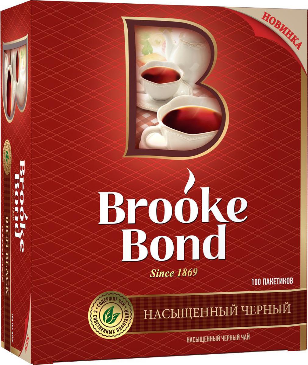 Brooke Bond Насыщенный черный чай в пакетиках, 100 шт недорго, оригинальная цена