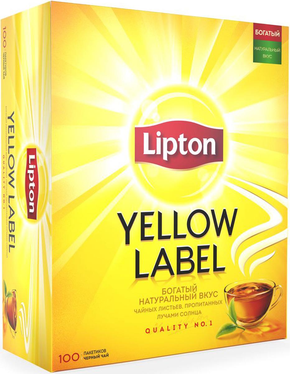 Lipton Yellow Label Черный чай в пакетиках, 100 шт lipton yellow tea выбор 100 пакета