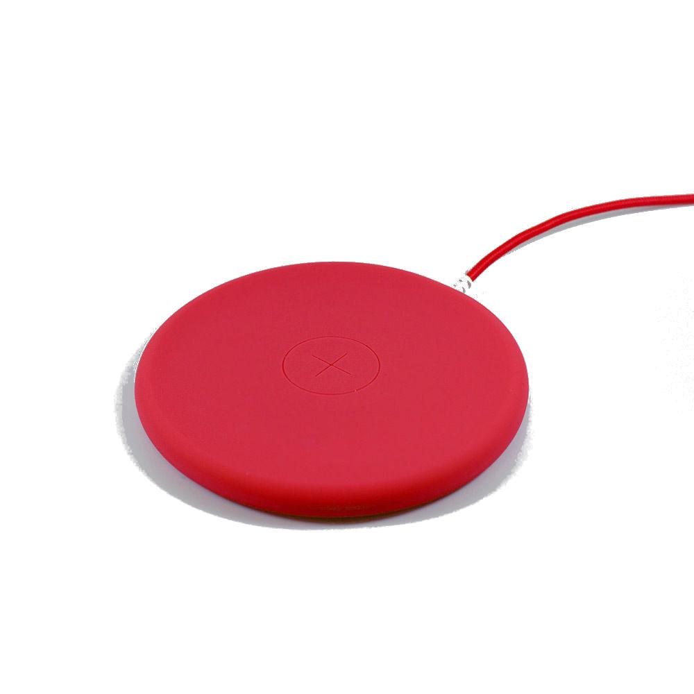 Беспроводное зарядное устройство Philo Wireless Charging Pad, красный зарядное устройство red line qi 04 black для apple iphone 8 8 plus