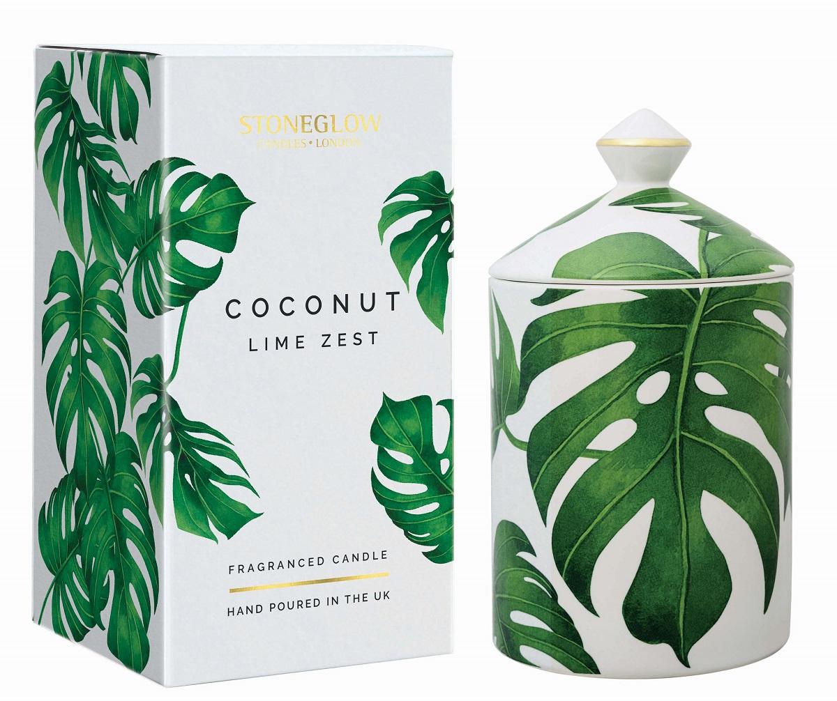 Свеча ароматизированная Stoneglow Кокос и цедра лимона zest zest 23742 3