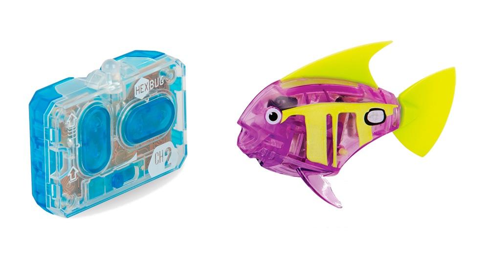 Робот на радиоуправлении HEXBUG Радиоуправляемая рыбка 460-4086 фиолетовый