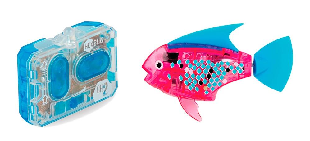 Робот на радиоуправлении HEXBUG Радиоуправляемая рыбка 460-4086 розовый